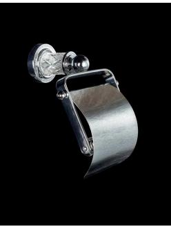 Boheme Murano Crystal 10901-CRST-CH Держатель для туалетной бумаги с крышкой (Хром)