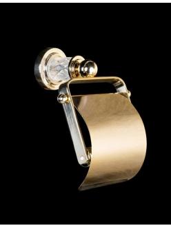 Boheme Murano Crystal 10901-CRST-G Держатель для туалетной бумаги с крышкой (Золото)
