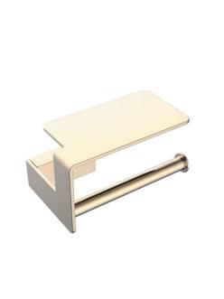 Boheme Q 10941-G Держатель для туалетной бумаги с полкой (Золото)