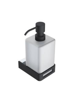 Boheme Q 10957-CR-B Диспенсер для мыла настенный (Хром/черный)