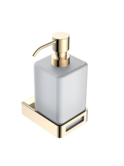 Boheme Q 10957-G Диспенсер для мыла настенный (Золото)