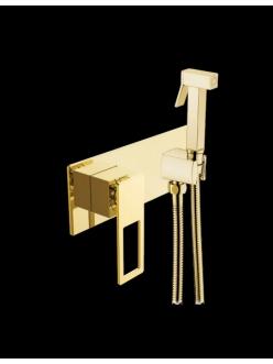 Boheme Q 147-G Гигиеническая лейка со смесителем (Золото)