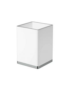 Boheme 10961-W-CR Стакан для щеток, хром/белый