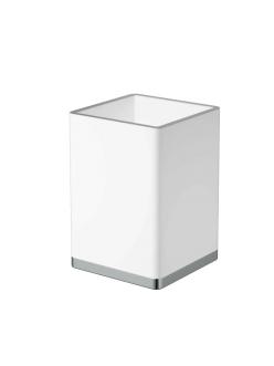 Boheme 10961-W-CR Стакан для щеток (Хром/белый)
