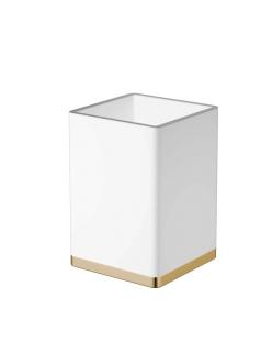 Boheme 10961-W-G Стакан для щеток (золото/белый)