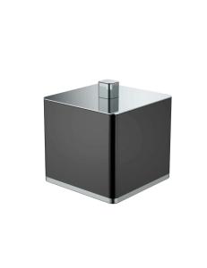 Boheme 10964-B-CR Стакан для ваты, хром/черный