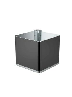 Boheme 10964-B-CR Стакан для ваты (Хром/черный)
