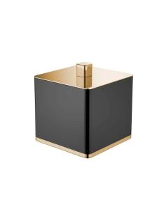 Boheme 10964-B-G Стакан для ваты, золото/черный