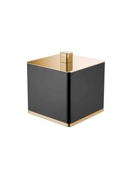 Boheme 10964-B-G Стакан для ваты (золото/черный)