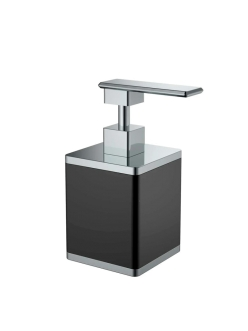 Boheme 10969-B-CR Диспенсер для мыла настольный (черный/хром)