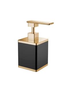 Boheme 10969-B-G Диспенсер для мыла настольный, черный/золото