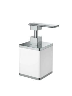 Boheme 10969-W-CR Диспенсер для мыла настольный (белый/хром)