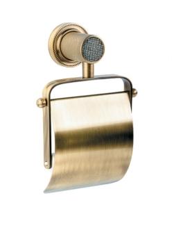 Boheme Royal Crystal 10921-BR Держатель для туалетной бумаги с крышкой (Бронза)