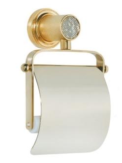 Boheme Royal Crystal 10921-G Держатель для туалетной бумаги с крышкой (Золото)