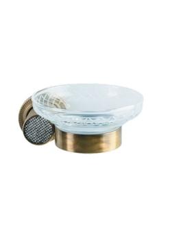 Boheme Royal Crystal 10923-BR Мыльница настенная (Бронза)
