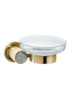 Boheme Royal Crystal 10923-G Мыльница настенная (Золото)