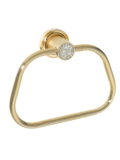 Boheme Royal Crystal 10925-G Держатель для полотенца кольцо (Золото)