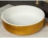 Boheme Corian LV204 819-G Раковина накладная (золото)