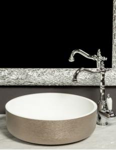 Boheme Corian LV204 819-SL Раковина накладная, серебро