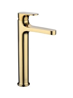 Boheme Spectre 452-G Смеситель высокий для умывальника однорычажный (Золото)