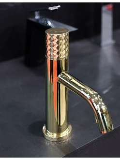 Boheme Stick 121-G Смеситель для умывальника (Золото)