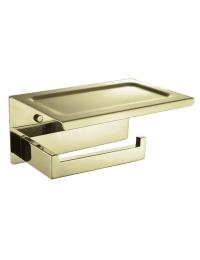 Boheme Venturo 10311-G Держатель для туалетной бумаги с полкой, золото