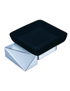 Boheme Venturo 10313-CR-B Мыльница настенная, хром/черный