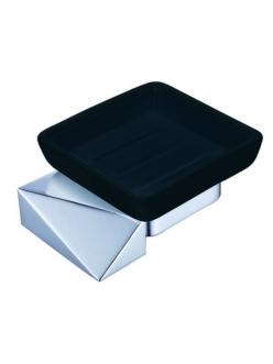 Boheme Venturo 10313-CR-B Мыльница настенная (Хром/черный)
