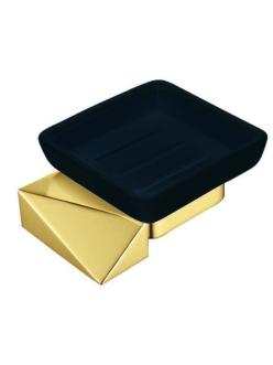 Boheme Venturo 10313-G-B Мыльница настенная (Золото/черный)