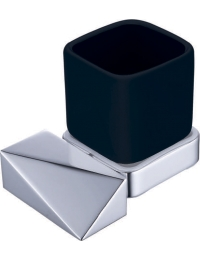 Boheme Venturo 10314-CR-B Стакан для зубных щеток, хром/черный