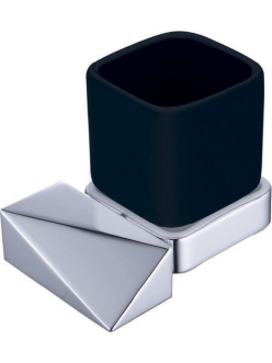 Boheme Venturo 10314-CR-B Стакан для зубных щеток (Хром/черный)