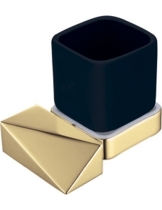 Boheme Venturo 10314-G-B Стакан для зубных щеток, золото/черный