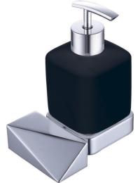 Boheme Venturo 10317-CR-B Диспенсер для мыла настенный, хром/черный
