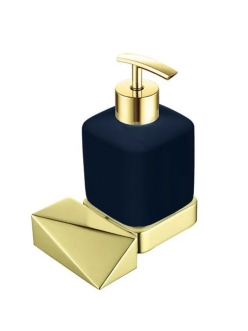 Boheme Venturo 10317-G-B Диспенсер для мыла настенный (Золото/черный)