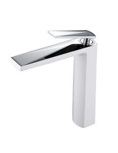 Boheme Venturo 372-W Смеситель для умывальника высокий, белый/хром