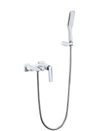 Boheme Venturo 373-W Смеситель для ванны с душ.гарнитуром, белый/хром