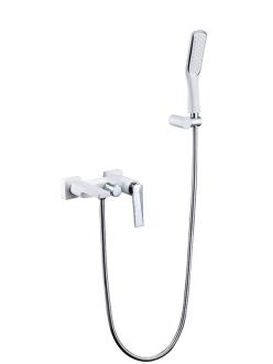 Boheme Venturo 373-W Смеситель для ванны с душевым гарнитуром (Белый/хром)
