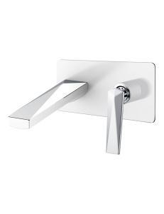 Boheme Venturo 375-W Смеситель для умывальника из стены, белый/хром