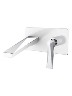 Boheme Venturo 375-W Смеситель для умывальника из стены (Белый/хром)