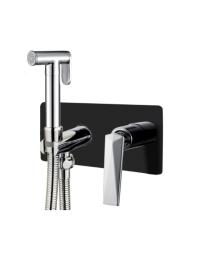 Boheme Venturo 377-B Гигиенический душ со смесителем, черный/хром