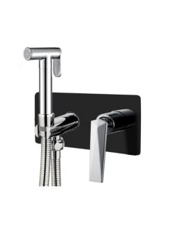 Boheme Venturo 377-B Гигиенический душ со смесителем (Черный/Хром)