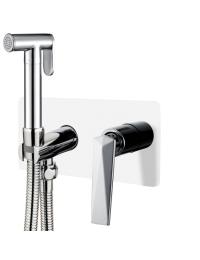 Boheme Venturo 377-W Гигиенический душ со смесителем, белый/хром