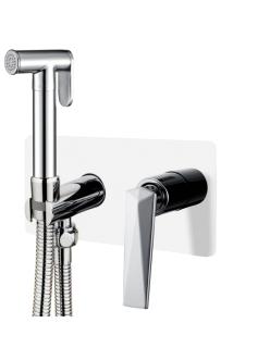 Boheme Venturo 377-W Гигиенический душ со смесителем (Белый/хром)