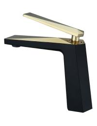 Boheme Venturo 381-B Смеситель для умывальника черный/золото