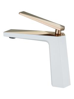 Boheme Venturo 381-W Смеситель для умывальника однорычажный (белый/золото)