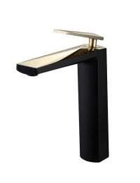 Boheme Venturo 382-B Смеситель для умывальника высокий, черный/золото