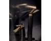 Boheme Venturo 382-B Смеситель для умывальника высокий однорычажный (Черный/золото)