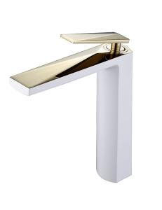 Boheme Venturo 382-W Смеситель для умывальника высокий, белый/золото