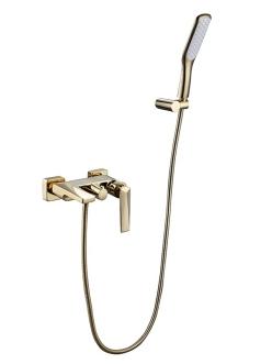 Boheme Venturo 383 Смеситель для ванны с душевым гарнитуром (Золото)