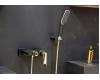 Boheme Venturo 383-B Смеситель для ванны с душевым гарнитуром (Черный/золото)